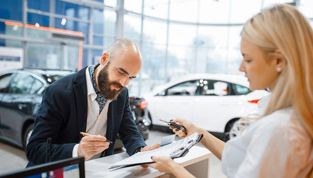 Auto rental customer